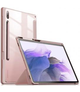 """Rožinis atverčiamas dėklas Samsung Galaxy Tab S7 FE 5G 12.4 T730 / T736B planšetei """"Infiland Crystal Case"""""""