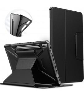 """Juodas atverčiamas dėklas Samsung Galaxy Tab S7 FE 5G 12.4 T730 / T736B planšetei """"Infiland Multiple Angles"""""""