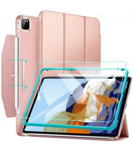 """Rausvai auksinės spalvos atverčiamas dėklas + Apsauginis grūdintas stiklas Apple iPad Pro 11 2021 planšetei """"ESR Ascend Trifold"""""""