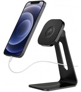 "Juodas stovas Apple iPhone telefonams su Magsafe ""Spigen Onetap"""