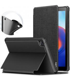 """Juodas atverčiamas dėklas Samsung Galaxy Tab A7 Lite 8.7 T220 / T225 planšetei """"Infiland Smart Stand"""""""