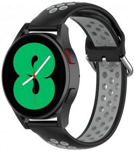 """Juoda/pilka apyrankė Samsung Galaxy Watch 4 40 / 42 / 44 / 46 mm laikrodžiui """"Tech-Protect Softband"""""""