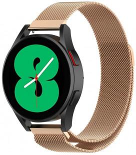 """Auksinės spalvos apyrankė Samsung Galaxy Watch 4 40 / 42 / 44 / 46 mm laikrodžiui """"Tech-Protect Milaneseband"""""""