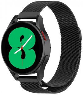 """Juoda apyrankė Samsung Galaxy Watch 4 40 / 42 / 44 / 46 mm laikrodžiui """"Tech-Protect Milaneseband"""""""