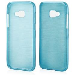 "Mėlynas silikoninis dėklas Samsung Galaxy A3 2017 A320F telefonui ""Jelly Metallic"""