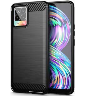 """Juodas dėklas Realme 8 / 8 Pro telefonui """"Tech-Protect TPUCarbon"""""""