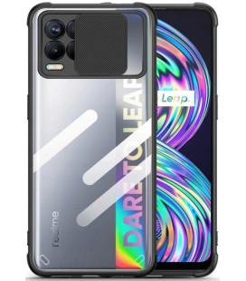 """Juodas dėklas Realme 8 / 8 Pro telefonui """"Tech-Protect Camshield"""""""
