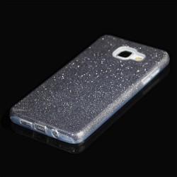 """Juodas silikoninis blizgantis dėklas Samsung Galaxy A3 2016 telefonui """"Blink"""""""