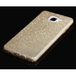 """Auksinės spalvos silikoninis blizgantis dėklas Samsung Galaxy A3 2016 telefonui """"Blink"""""""