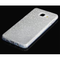 """Sidabrinės spalvos silikoninis blizgantis dėklas Samsung Galaxy A3 2016 telefonui """"Blink"""""""