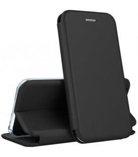 """Juodas atverčiamas dėklas Samsung Galaxy A02S telefonui """"Book Elegance"""""""