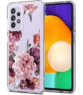 "Dėklas su gėlėmis Samsung Galaxy A52 / A52S telefonui ""Spigen Cyrill Cecile Rose Floral"""