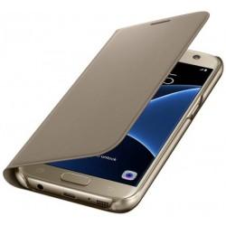 """Originalus auksinės spalvos atverčiamas dėklas """"Flip Wallet"""" Samsung Galaxy S7 G930F telefonui ef-wg930pfe"""