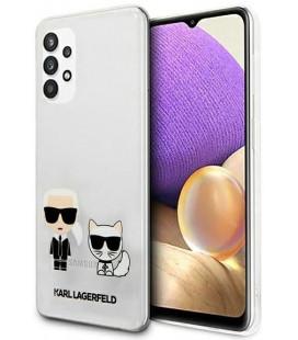 "Skaidrus dėklas Samsung Galaxy A32 5G telefonui ""KLHCA32CKTR Karl Lagerfeld PC/TPU Karl & Choupette Case"""