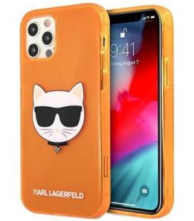 "Oranžinis dėklas Apple iPhone 12 Pro Max telefonui ""KLHCP12LCHTRO Karl Lagerfeld TPU Choupette Head Case"""