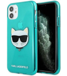 "Mėlynas dėklas Apple iPhone 11 telefonui ""KLHCN61CHTRB Karl Lagerfeld TPU Choupette Head Case"""