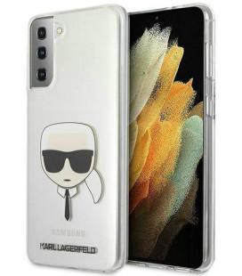 """Skaidrus dėklas Samsung Galaxy S21 Plus telefonui """"KLHCS21MKTR Karl Lagerfeld PC/TPU Head Cover"""""""
