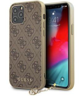 "Rudas dėklas Apple iPhone 12 Pro Max telefonui ""GUHCP12LGF4GBR Guess 4G Charms Cover"""