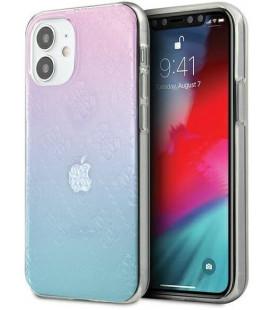 """Mėlynas dėklas Apple iPhone 12 Mini telefonui """"GUHCP12S3D4GGBP Guess 3D Raised Cover"""""""