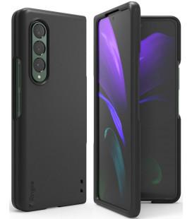 """Juodas dėklas Samsung Galaxy Z Fold 3 telefonui """"Ringke Slim"""""""