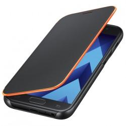 """Originalus atverčiamas juodas dėklas """"Neon Flip Cover"""" Samsung Galaxy A5 2017 telefonui ef-fa520pbe"""