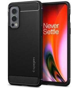 """Juodas dėklas Oneplus Nord 2 5G telefonui """"Spigen Rugged Armor"""""""
