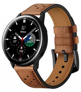 """Ruda apyrankė Samsung Galaxy Watch 4 40 / 42 / 44 / 46mm laikrodžiui """"Tech-Protect Leather"""""""