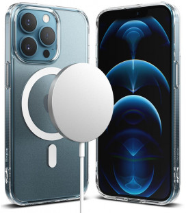 "Skaidrus dėklas Apple iPhone 13 Pro Max telefonui ""Ringke Fusion Magnetic Magsafe"""