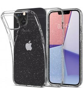 """Skaidrus dėklas su blizgučiais Apple iPhone 13 Mini telefonui """"Spigen Liquid Crystal Glitter"""""""