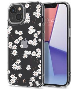 "Baltas dėklas su gėlėmis Apple iPhone 13 Mini telefonui ""Spigen Cyrill Cecile White Daisy"""