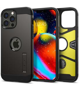 "Pilkas dėklas Apple iPhone 13 Pro Max telefonui ""Spigen Tough Armor"""