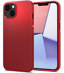 "Raudonas dėklas Apple iPhone 13 Mini telefonui ""Spigen Thin Fit"""