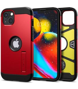 """Raudonas dėklas Apple iPhone 13 Mini telefonui """"Spigen Tough Armor"""""""