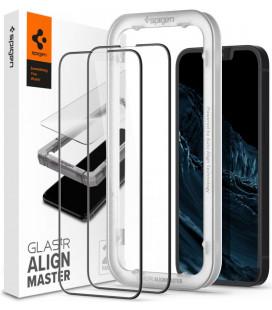 "Apsauginis grūdintas stiklas Apple iPhone 13 Mini telefonui ""Spigen AlignMaster Glas tR 2-pack"""