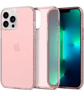 "Rožinis dėklas su blizgučiais Apple iPhone 13 Pro telefonui ""Spigen Liquid Crystal Glitter"""