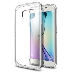 "Skaidrus dėklas Samsung Galaxy S6 Edge G925F telefonui ""Spigen Ultra Hybrid"""