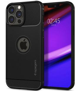 "Juodas dėklas Apple iPhone 13 Pro telefonui ""Spigen Rugged Armor"""