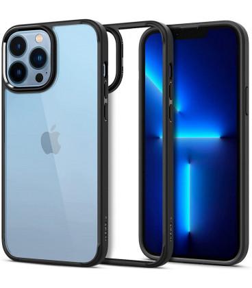 "Juodas dėklas Apple iPhone 13 Pro telefonui ""Spigen Ultra Hybrid"""