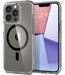 "Juodas/skaidrus dėklas Apple iPhone 13 Pro telefonui ""Spigen Ultra Hybrid MAG Magsafe"""