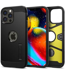 "Juodas dėklas Apple iPhone 13 Pro telefonui ""Spigen Tough Armor"""