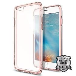 "Rausvai skaidrus dėklas Apple iPhone 6/6s telefonui ""Spigen Ultra Hybrid"""