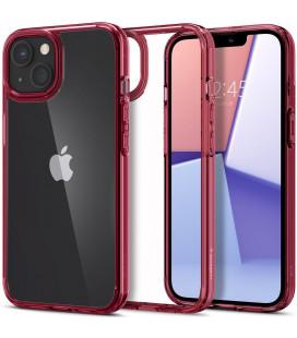 "Raudonas dėklas Apple iPhone 13 Mini telefonui ""Spigen Ultra Hybrid"""