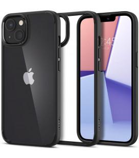 "Matinis juodas dėklas Apple iPhone 13 Mini telefonui ""Spigen Ultra Hybrid"""