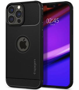 "Juodas dėklas Apple iPhone 13 Pro Max telefonui ""Spigen Rugged Armor"""