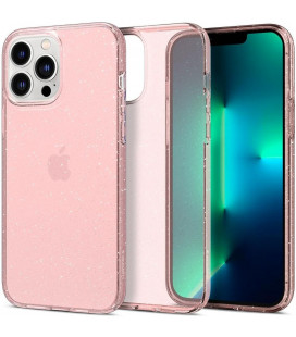 "Rožinis dėklas su blizgučiais Apple iPhone 13 Pro Max telefonui ""Spigen Liquid Crystal Glitter"""