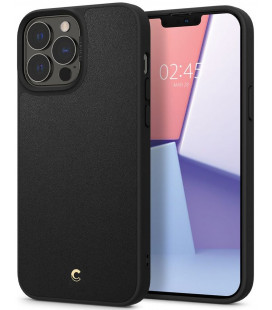 "Juodas dėklas Apple iPhone 13 Pro Max telefonui ""Spigen Cyrill Leather Brick"""