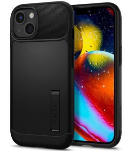 """Juodas dėklas Apple iPhone 13 telefonui """"Spigen Slim Armor"""""""