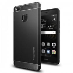 """Juodas dėklas Huawei P9 Lite telefonui """"Spigen Rugged Armor"""""""