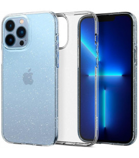 "Skaidrus dėklas su blizgučiais Apple iPhone 13 Pro telefonui ""Spigen Liquid Crystal Glitter"""