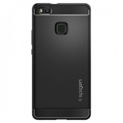 """Juodas atverčiamas dėklas Huawei P9 Lite telefonui """"Telone Vertical POCKET"""""""